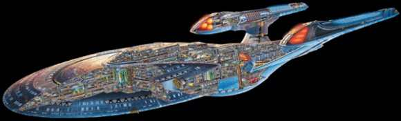 Sovereign Class Cutaway-SF-UFP Highly Classified NTK Only